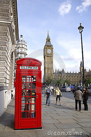 Free Red Telephone Box Near Big Ben Stock Photography - 3225762