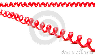 Red telephone cord