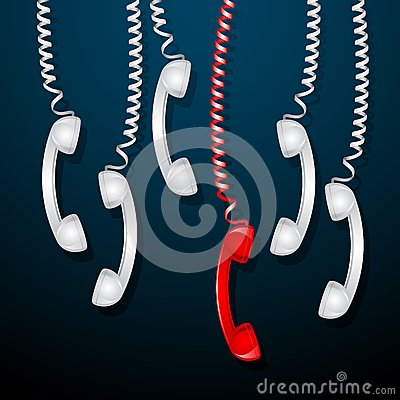 Red Telephone Receiver