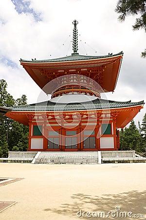 Red Temple on Mount Kōya