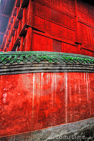 Red Temple Walls