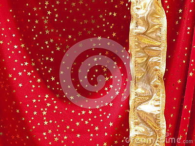 Red textile with stars