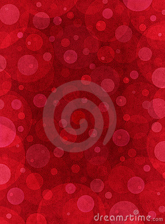 Red Textured Circles
