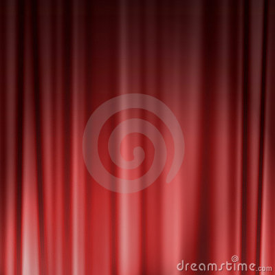 Red theater or cinema curtain
