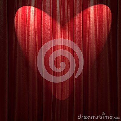 Free Red Theater Curtain Stock Photography - 105412582