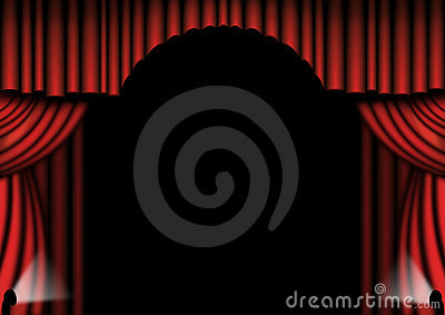Red Theater Drapes