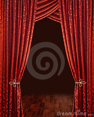 Free Red Theatre Curtains Stock Photo - 10781920