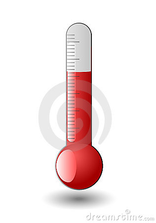 Red thermometer