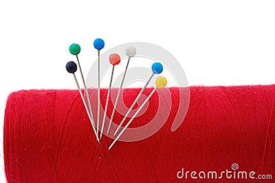 Red thread ball of yarn