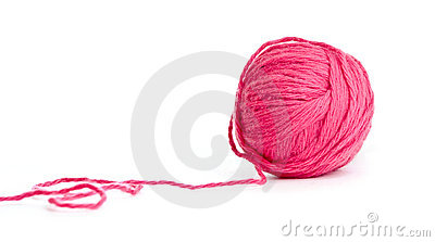 Red thread clew isolated