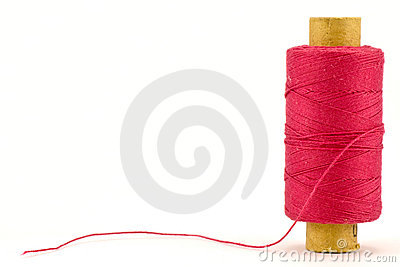 Red thread spool