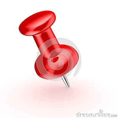 Red thumbtack