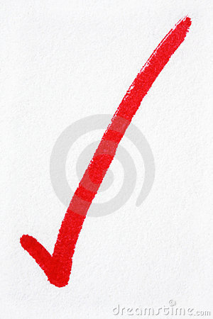 Free Red Tick Stock Image - 5854451