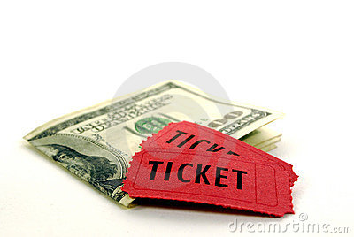 Red Tickets for Admission with Cash