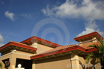 Red tiled roofs
