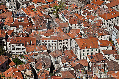 Red-tiled roofs of the old city
