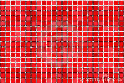 Red tiles - mosaic