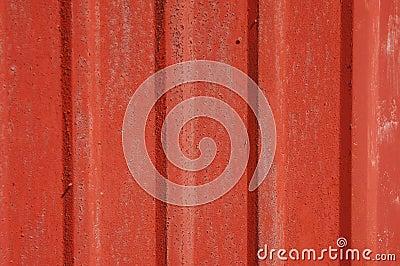 Red tin siding