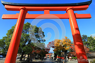 Red Torii in fujimi-inari in japan