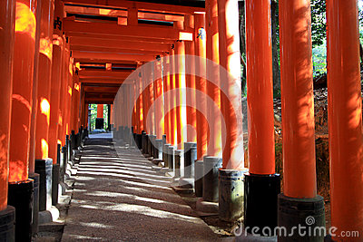 Red Torii in japan : Fujimi Inari at Kyoto