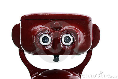 Red tourist binocular