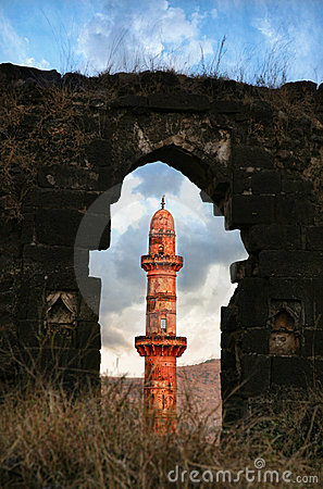Red tower in Daulatabad fort