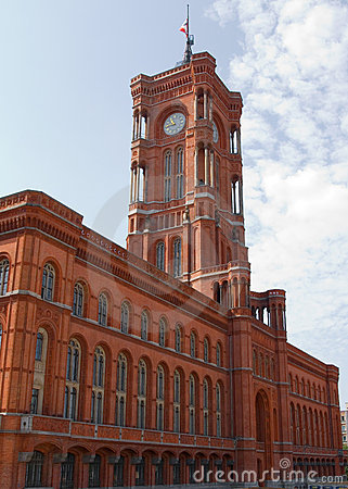 The Red Town Hall (German: Rotes Rathaus) - Berlin Royalty Free Stock Photography - Image: 15493487