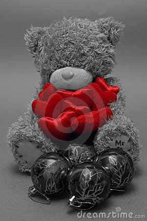 Free Red Toy Hearts And Christmas Balls Royalty Free Stock Image - 3897506