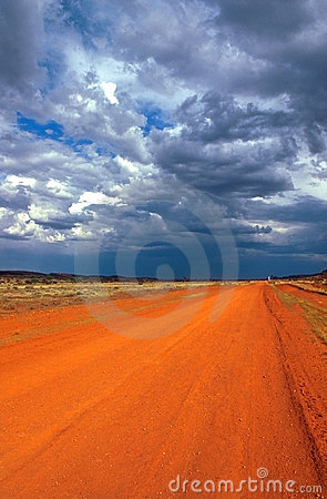 Free Red Track In The Outback Stock Image - 5582671
