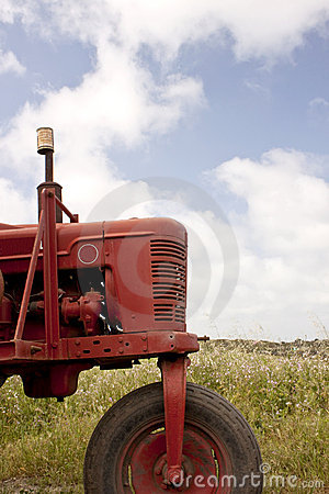 Free Red Tractor Stock Image - 10765551