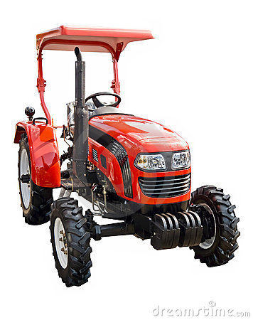 Free Red Tractor Royalty Free Stock Photography - 19848637