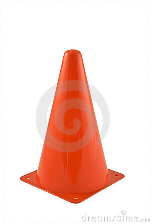 Red traffic cone
