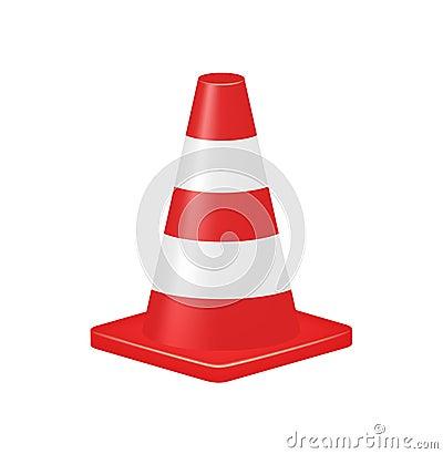 Red traffic cone