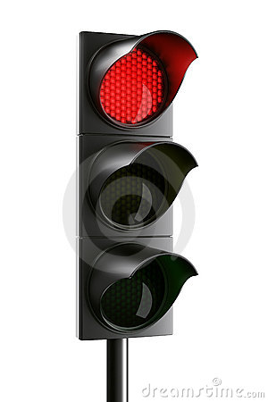 Free Red Traffic Light Stock Images - 5214824