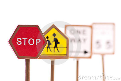 Red Traffic Stop Sign