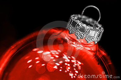 Red transparant christmas ball