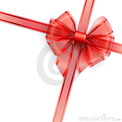 Free Red Transparent Bow Isolated On White Stock Images - 22917524