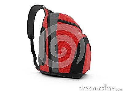 Red travel rucksack