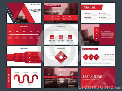 Red triangle Bundle infographic elements presentation template. business annual report, brochure, leaflet, advertising flyer, Vector Illustration