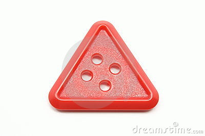 Red Triangle Button Stock Photography Image 13633332