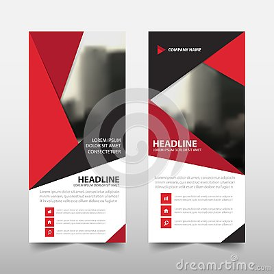 Free Red Triangle Roll Up Business Brochure Flyer Banner Design , Cover Presentation Abstract Geometric Background, Modern Publication Stock Photography - 103512592