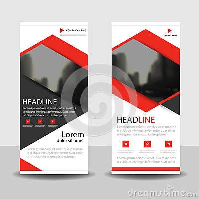Free Red Triangle  Roll Up Business Brochure Flyer Banner Design , Cover Presentation Abstract Geometric Background, Modern Publication Royalty Free Stock Image - 84755236