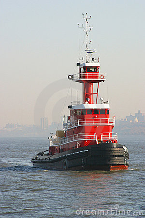 Free Red Tugboat Stock Photography - 12121682