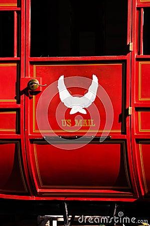 Red U.S. Mail stagecoach