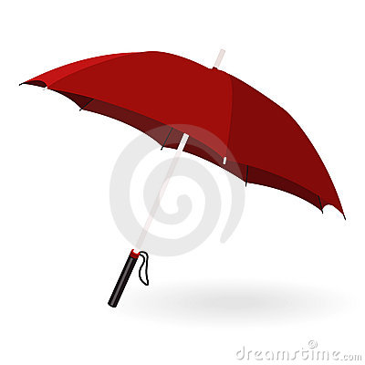 Red umbrella and shadow