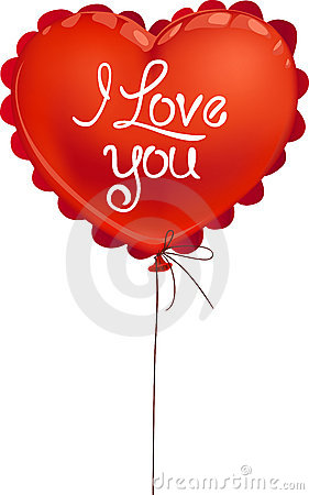 Red Valentine balloon I love you!
