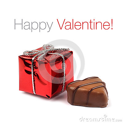 Red Valentine present box