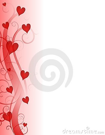 Free Red Valentine S Day Hearts Page Border Royalty Free Stock Photos - 3909318