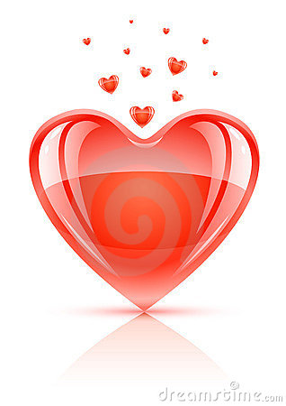 Free Red Valentine S Day Symbol - Love Heart Royalty Free Stock Image - 7690176