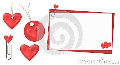 Red valentine set